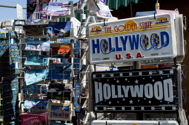 Misc_Souvenirs_LicensePlate_Postcards_Hollywood_KAB